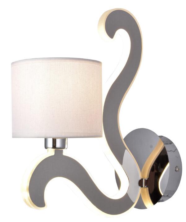 AMBROSIA 1 LAMPA KINKIET 1X40W E14 + 6W LED CHROM - 21-33864