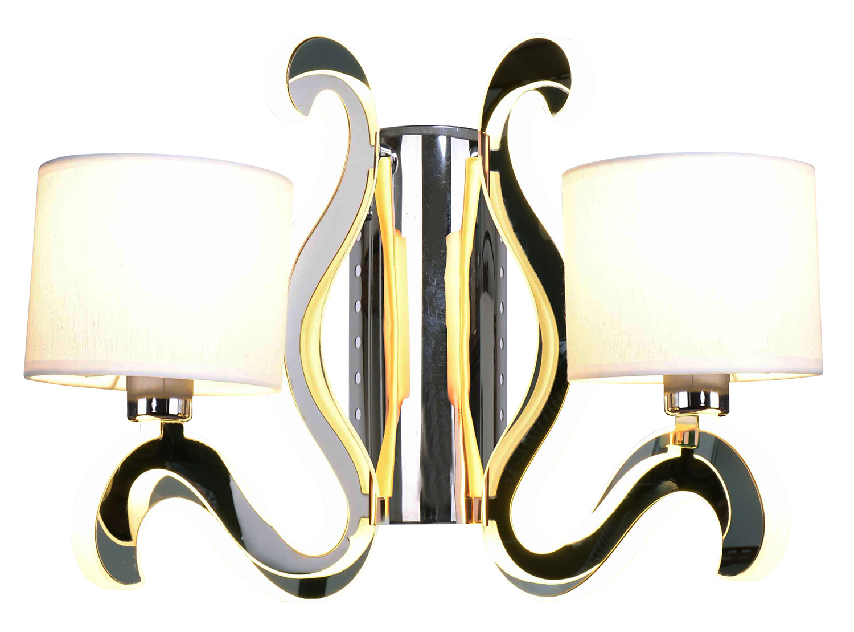 AMBROSIA 1 LAMPA KINKIET 2X40W E14 + 12,3W LED CHROM - 22-33871