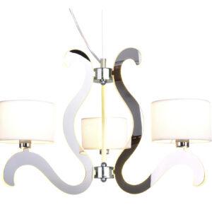 AMBROSIA 1 LAMPA WISZĄCA 3X40W E14 + 18,4W LED CHROM - 33-33895