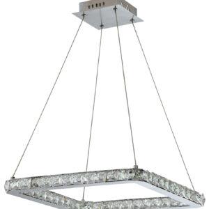 LORDS LAMPA WISZĄCA KWADRAT 42X42 24W LED CHROM - 31-34854