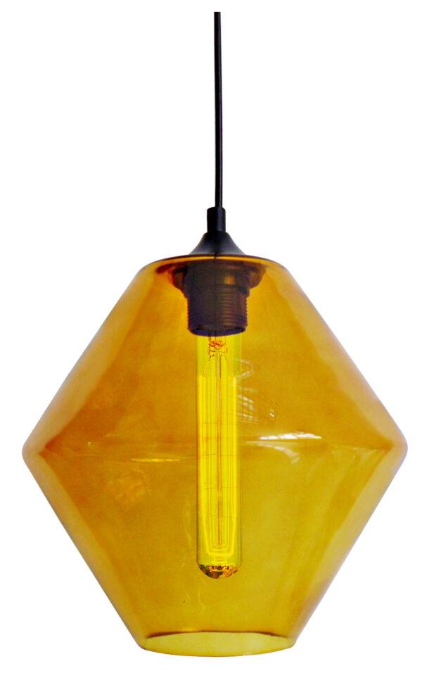 BREMEN LAMPA WISZĄCA 20 1X60W E27 KLOSZ POMARAŃCZOWY + ŻARÓWKA - 31-36223