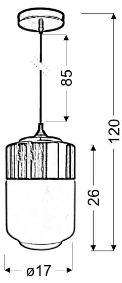 MASALA LAMPA WISZĄCA 17 1X60W E27 BIAŁY Z MIEDZIANĄ NAKŁADKĄ - 31-37633