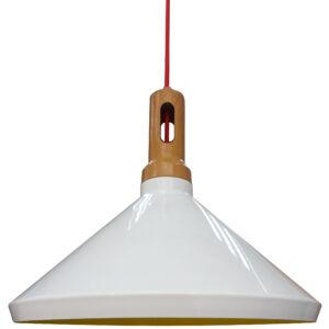 ROBINSON LAMPA WISZĄCA 35 1X60W E27 BIAŁY / WNĘTRZE ŻÓŁTE - 31-37671