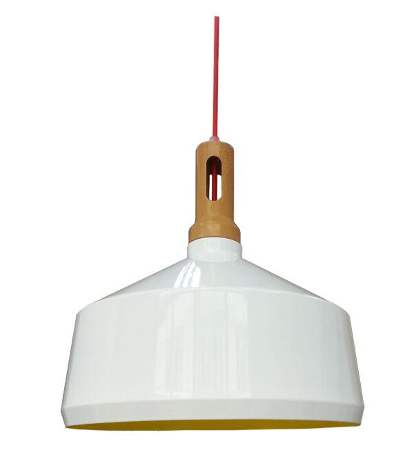 ROBINSON LAMPA WISZĄCA 36 1X60W E27 BIAŁY / WNĘTRZE ŻÓŁTE - 31-37688
