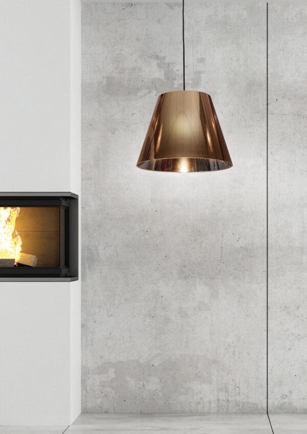 PLATINO 1 LAMPA WISZĄCA 35 CM 1X60W E27 MIEDZIANY - 31-38302