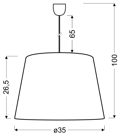 PLATINO 3 LAMPA WISZĄCA 35 CM 1X60W E27 SREBRNY - 31-38326