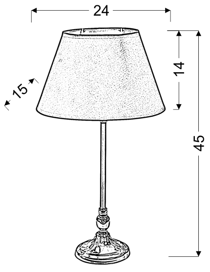NOE LAMPA GABINETOWA 1X60W E27 STOŻEK CZARNY - 41-38821