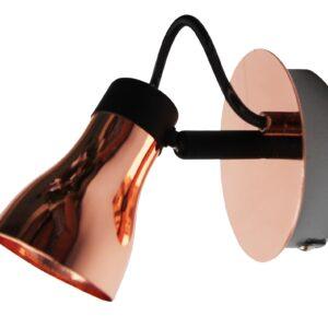ANGUS LAMPA KINKIET 1X50W GU10 CZARNY+MIEDZIANY - 91-39088