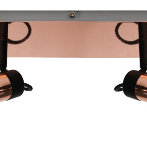 ANGUS LAMPA SUFITOWA LISTWA 2X50W GU10 CZARNY+MIEDZIANY - 92-39095