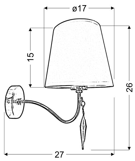 ANSA LAMPA KINKIET 1X60W E27 CHROM - 21-40497