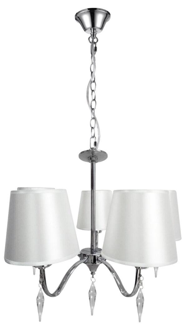 ANSA LAMPA WISZĄCA 5X60W E27 CHROM - 35-40510