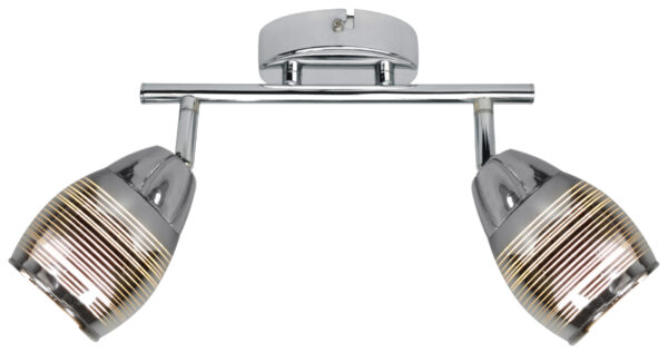 MILTON LAMPA SUFITOWA LISTWA 2X10W E14 LED CHROM - 92-41265