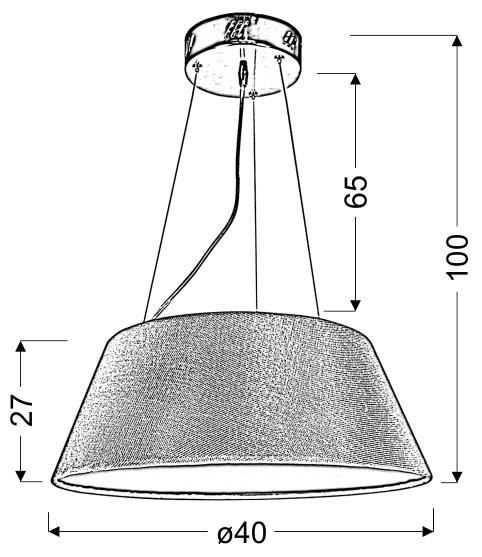 GUSTO LAMPA WISZĄCA OKRĄGŁY 40 19W LED CZARNY - 31-41487