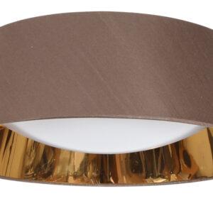 MOLA LAMPA SUFITOWA PLAFON 46 16W LED 6500K Z ABAŻUREM BRĄZOWY - 31-41500