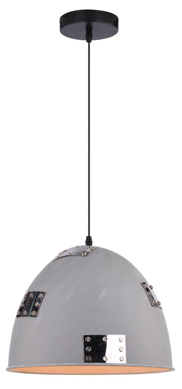 PATCH LAMPA WISZĄCA 30 1X60W E27 SZARY + CHROMOWANY DEKOR - 31-43160