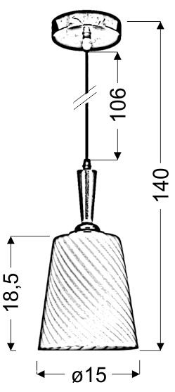 GOYA LAMPA WISZĄCA 15 1X60W E27 BIAŁY - 31-43566
