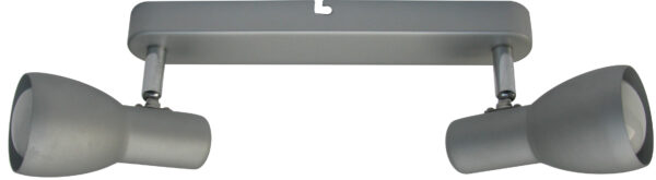 PICARDO LAMPA SUFITOWA LISTWA 2X40W E14 SZARO SREBRNY - 92-44211