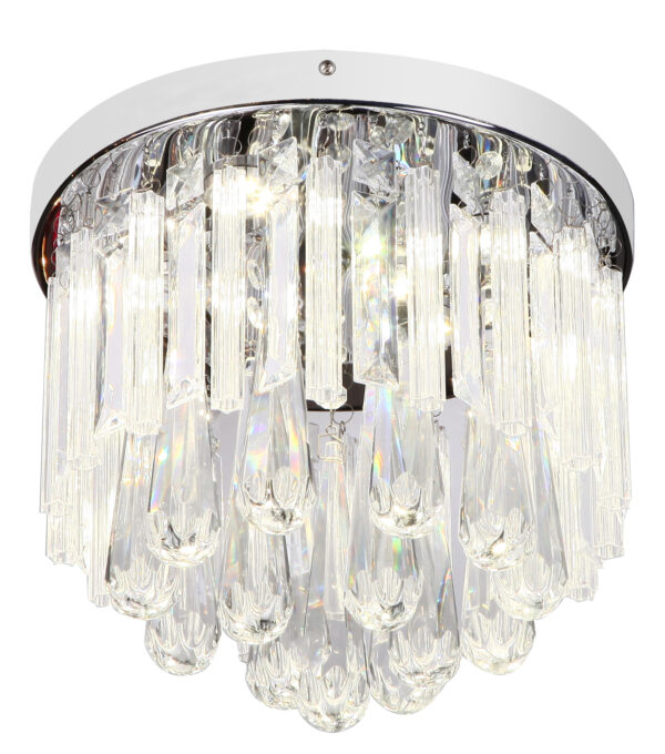 ATELLA LAMPA SUFITOWA PLAFON 12W LED CHROM - 98-44778