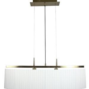 BERG LAMPA WISZĄCA 2X40W E14 PATYNA ABAŻUR BIAŁY - 32-45171