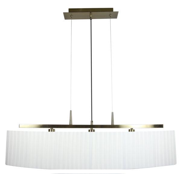 BERG LAMPA WISZĄCA 3X40W E14 PATYNA ABAŻUR BIAŁY - 33-45188