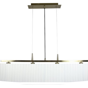 BERG LAMPA WISZĄCA 4X40W E14 PATYNA ABAŻUR BIAŁY - 34-45218