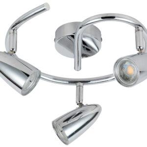 LIBERTY LAMPA SUFITOWA SPIRALA 3X4W LED CHROM - 93-49612