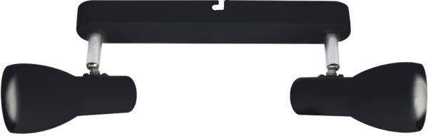PICARDO LAMPA SUFITOWA LISTWA 2X40W E14 CZARNY MATOWY - 92-50717