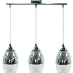 CELIA LAMPA WISZĄCA 3X60W E27 SREBRNY - 33-51585