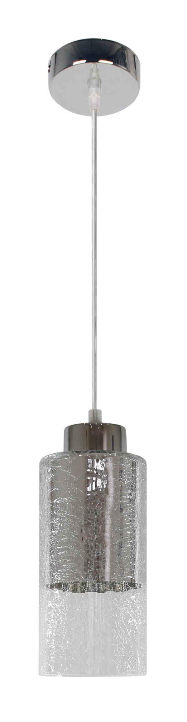 LIBANO LAMPA WISZĄCA 10 1X60W E27 SREBRNY - 31-51646