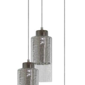 LIBANO LAMPA WISZĄCA 3X60W E27 OKRĄGŁY SREBRNY - 33-51691