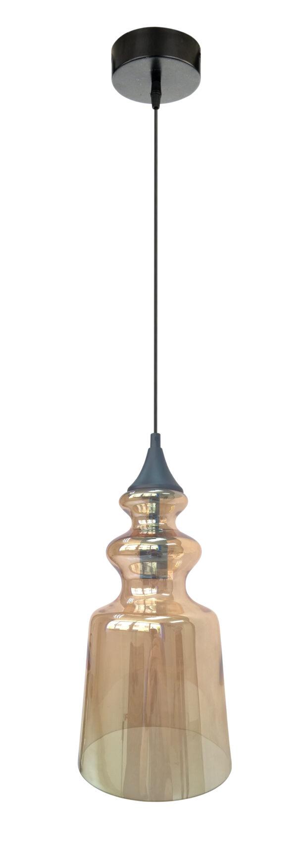 OXELO LAMPA WISZĄCA 20/36 1X60W E27 BURSZTYNOWY - 31-51820