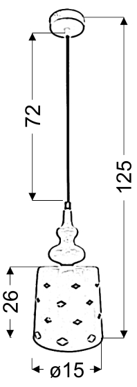 HAMP LAMPA WISZĄCA 15/26 1X60W E27 BIAŁY - 31-51905