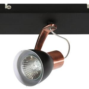 MARKUS LAMPA SUFITOWA LISTWA 3X50W GU10 CZARNY+MIEDZIANY BEZ ŻARÓWKI - 93-35608-M