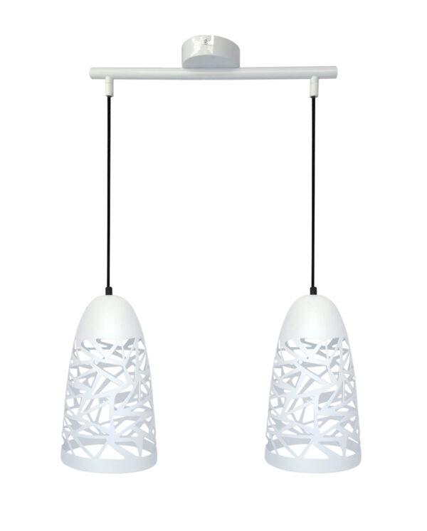 SABRIN LAMPA WISZĄCA  2X60W E27 BIAŁY - 32-54869