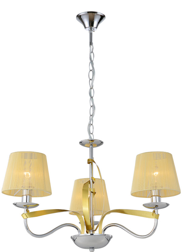 DIVA LAMPA WISZĄCA 3X40W E14 CHROM/ZŁOTY - 33-55057