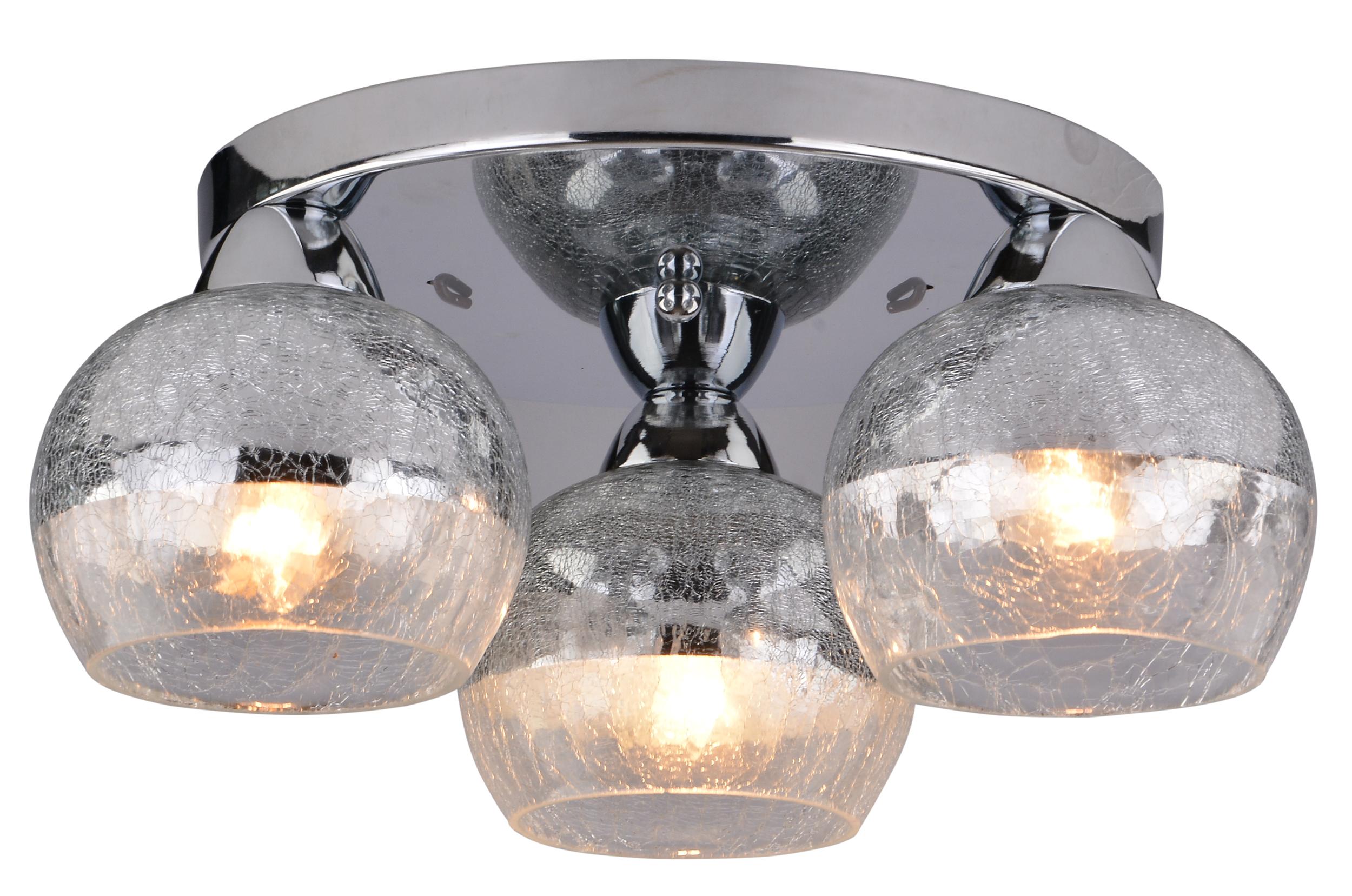 CROMINA LAMPA SUFITOWA PLAFON OKRĄGŁY 3X60W E27 CHROM - 98-55637
