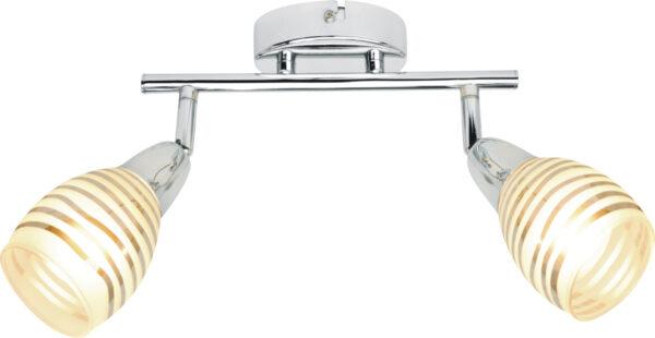 JUBILAT LAMPA SUFITOWA LISTWA 2X10W E14 LED CHROM - 92-55699