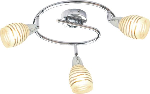 JUBILAT LAMPA SUFITOWA SPIRALA 3X10W E14 LED CHROM - 98-55705