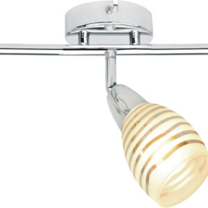 JUBILAT LAMPA SUFITOWA LISTWA 3X10W E14 LED CHROM - 93-55729
