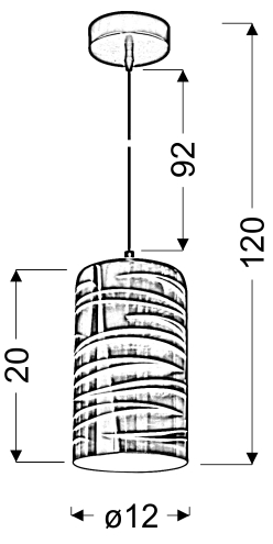 GALACTIC 3 LAMPA WISZĄCA 12 1X60W E27 3D - 31-56115