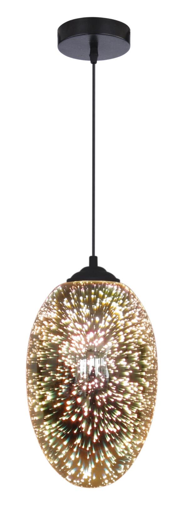 GALACTIC 1 LAMPA WISZĄCA 20 1X60W E27 3D - 31-56122
