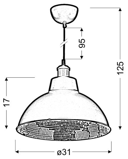 SCRIMI 1 LAMPA WISZĄCA 1X60W E27 CZARNY - 31-56658