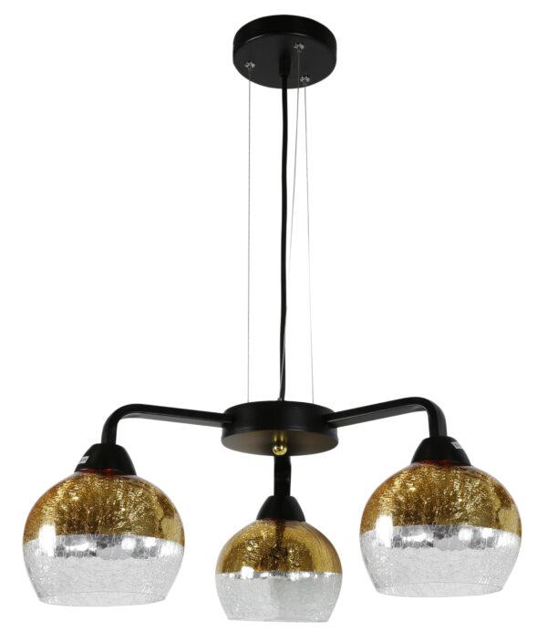 CROMINA GOLD LAMPA WISZĄCA 3X60W E27 CZARNY - 33-57259