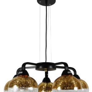 CROMINA GOLD LAMPA WISZĄCA 5X60W E27 CZARNY - 35-57266