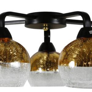 CROMINA GOLD LAMPA SUFITOWA 5X60W E27 CZARNY - 98-57297