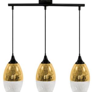 CELIA LAMPA WISZĄCA 3X60W E27 ZŁOTY - 33-57327