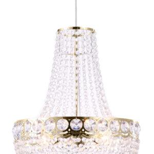PERSEO LAMPA WISZĄCA 3X60W E27 ZŁOTY+KRYSZTAŁKI - 31-57488