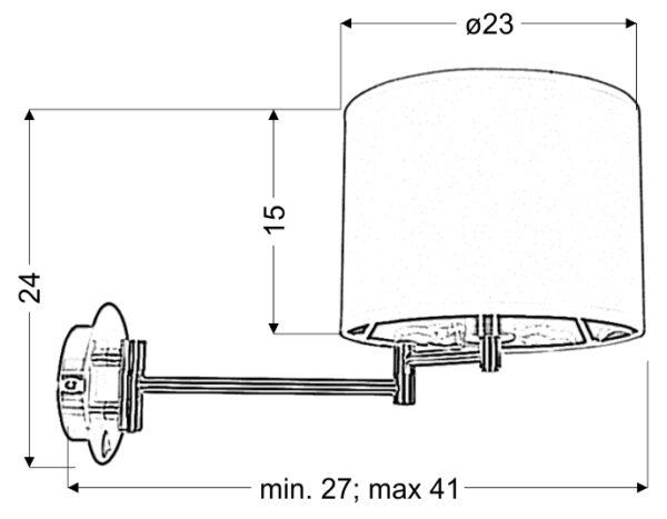ALEXIA LAMPA KINKIET 1X40W E14 CHROM - 21-57532