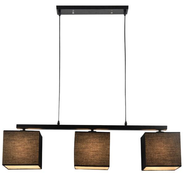 BOHO LAMPA WISZĄCA 3X40W E27 CZARNY - 33-58379