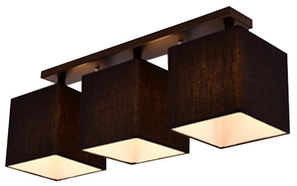 BOHO LAMPA SUFITOWA 3X40W E27 CZARNY - 33-58386